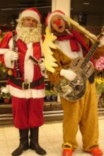 Kerst Act Rudolph and Santa